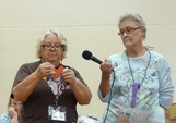 Picture - Lavonna and Sandi tell about tips and ticks for quilters to use