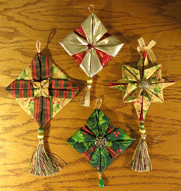 Fabric ornaments for Christmas by Susan Joy Noyes