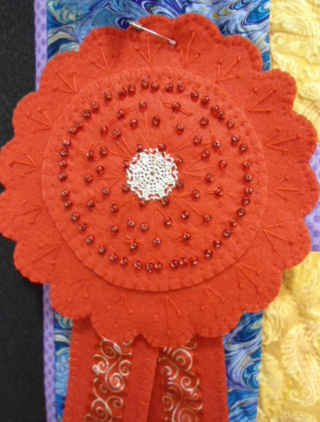 2nd place ribbon 2015 chairpersons challenge chino valley quilters a friendly