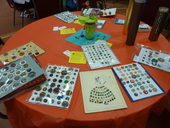 Table display of various buttons.