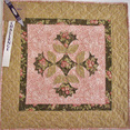 Small quilt - floral pink, white and tan